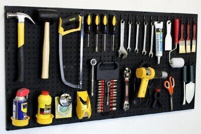 Wall Peg 24 X 48 Garage Pegboard Kit With Pegboard Accessories Organizer