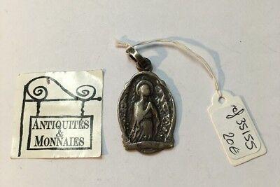 Pendant Religious 1906 Retro Vintage Solid Silver Prayer - REF35155
