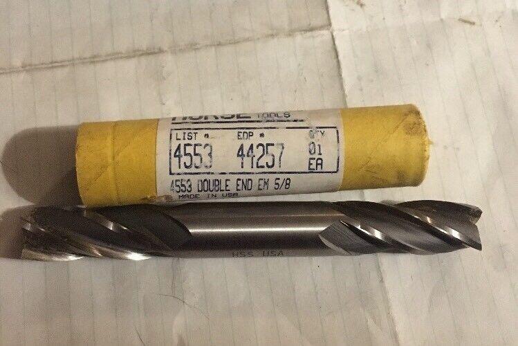 """Marxman 9//16/"""" x 5//8/"""" Double End Mill HSS 2 Flute Center Cutting 85892"""