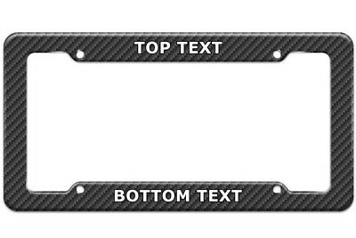 Personalized Custom Carbon Fiber License Plate Frame - Personalized License Plate Frame