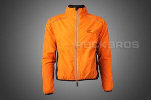 Tour-de-France-Cycling-Coat-Wind-Coat-Rain-Coat-Long-Sleeve-Orange
