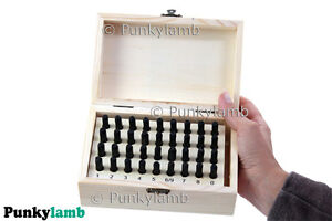 36pc 5mm Steel Letter & Number Stamp Punch Set Metal Stamps Security Postcode