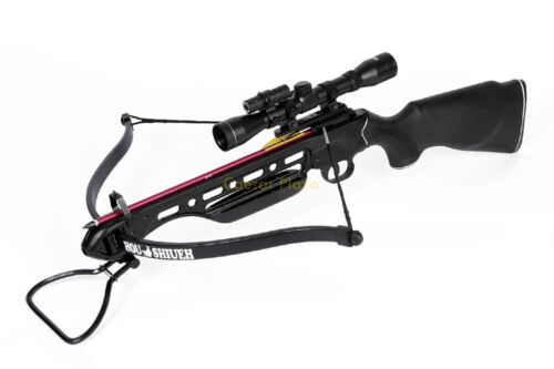 150 lb lbs Black Hunting Crossbow, 4x20 Scope +12 Bolts