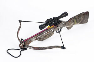 150-lb-Camouflage-Crossbow-Bow-w-4x20-Scope-12-Bolts-Arrows-180-175-80-50