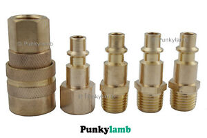 Toolzone-5pc-Pro-Air-Line-End-Quick-Coupler-Set-Compressor-Coupling-1-4-NPT-BSP