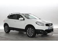 2013 (13 Reg) Nissan Qashqai 1.6 dCi Tekna 4x2 Arctic White 5 STANDARD DIESEL MA