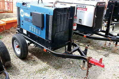 2013 Miller Big Blue 300 Pro Portable Kubota Diesel Welder W Trailer