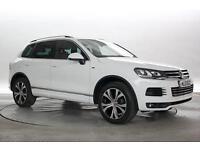 2013 (13 Reg) Volkswagen Touareg 3.0 TDi 245 BlueMotion Tech R Line DSG Pure Whi