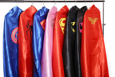 Adult Teen Superhero Cape, Batman, Superman/Girl, Wonder Woman, Bat Girl, Robin - Woman Superhero
