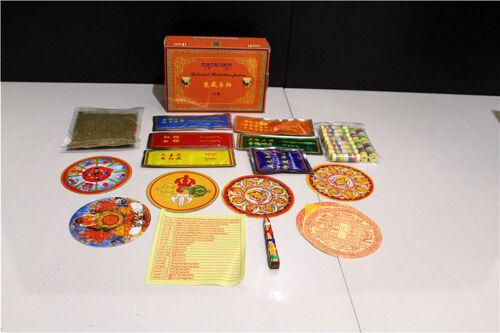 FULL SET TIBETAN BLESSED FOR STATUE INTERNAL RETENTION STORAGE LOTS KIT BOX !