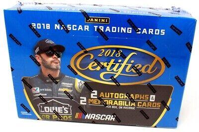 2018 Panini Certified NASCAR Racing Hobby Box - 2 Autographs + 2 Mem Per Box!
