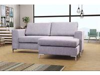 Brand new grey plaza corner sofa