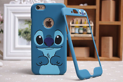 Disney Lilo Stitch Apple iPhone Samsung Front Back Plate Case Cover