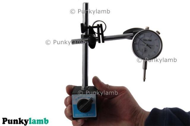DTI Stand Magnetic Base Plus Dial Gauge Metric Test Indicator Clocks Tool Set