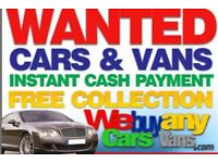 Cash waiting for cars and vans running or not any condition any age hassle free sale guaranteed