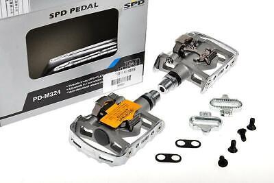 Shimano PD-M324 Pedali SPD, silver