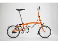 Brand New Brompton Bike orange - Folding bike M3L