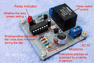 Diy Multifunction Sound Light Touch Control Sensor Delay Switch Controller Kit