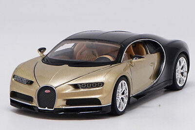 Welly 1 24 Bugatti Chiron Golden Diecast Model Car Vehicle New In Box