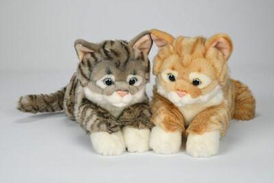 42cm Stoff Katze getigert Stofftier Plüschtier Kuscheltier Plüsch Kätzchen Kater