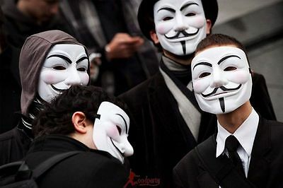 Lot of Hot Vendetta Anonymous Movie Guy Fawkes Mask Halloween Cosplay 2 Colors - Hot Halloween Guys