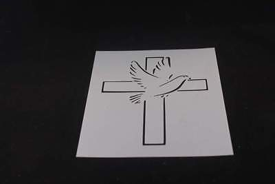 Cross Sign (Dove Peace Cross Sign Mylar Stencil Various Sizes Made in USA)
