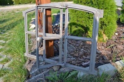 562x423mm Natural Neu Fenster mit Tür +Bogen Gussfenster Stallfenster Gußfenster