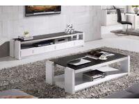 Azzurro 2m White High Gloss White TV Unit (New)