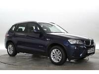 2013 (63 Reg) BMW X3 2.0 xDrive20d SE Deep Sea Blue DIESEL MANUAL