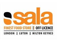 Shop assistant required to work in Eastern European store SALA in LUTON (Full Time)