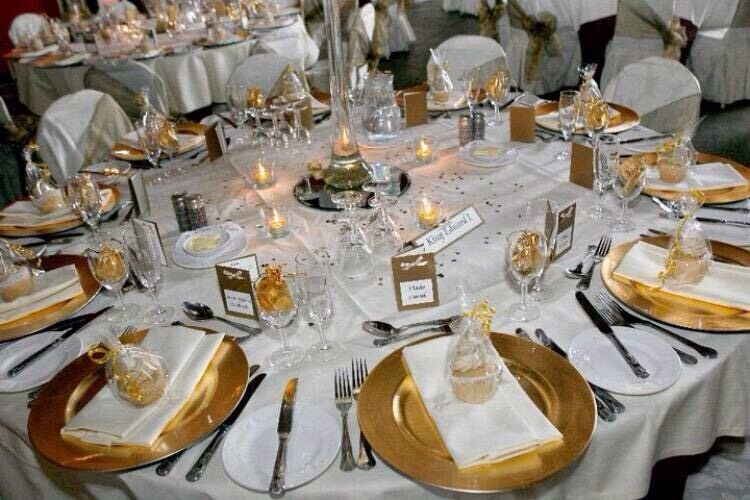Gold charger plate hire 95p wedding reception centrepiece hire 4 gold charger plate hire 95p wedding reception centrepiece hire 4 martini vase hire fish bowl 4 sal in docklands london gumtree junglespirit Images