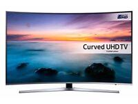"""Samsung 55"""" 4K UHD HDR LED Full SMART Curved Ultra Slim Design Ku Model with warranty"""