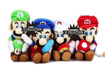 Super Mario E Luigi Plüsch Puppen Feuer Eis Pilz Grün Rot Fire Eis Super Mario Plüsch-puppen
