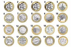 Rare £2 Coins - See chart below