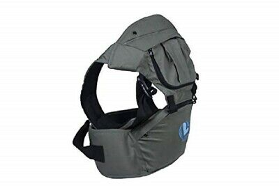 Baby's Best Ergonomic Baby Carrier. Hood, Cover, Hip Seat - 100% Natural
