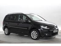 2013 (13 Reg) Volkswagen Touran 2.0 TDi 140 BlueMotion Tech Sport # Black MPV DI