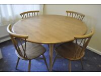 Ercol Table and Chiltern Candlestick Chairs
