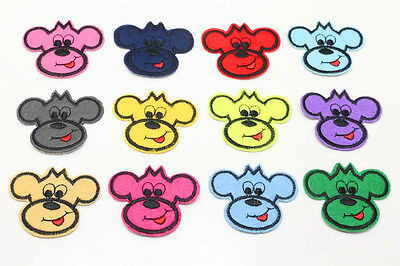 NEW 12pcs Embroidered Cloth Iron On Patch Sew Motif  Applique Dogs