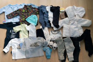 NEW & EUC Boy Clothes (0-6 Months) over 30 items