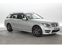 2014 (63 Reg) Mercedes C220 2.2 CDi BlueEFF AMG Sport Plus Silver ESTATE DIESEL