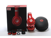 BEATS by Dr Dre STUDIO WIRELESS 2.0 LATEST BLUETOOTH HEADPHONES HEADSET BRAND NEW IN BOX - RED