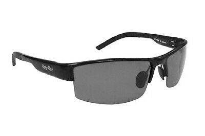 662d160f46 Ugly Fish Polarised Sunglasses PT24285 Shiny Black With Smoke Lens