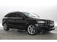 2013 (13 Reg) Audi Q7 3.0 TDi 245 Quattro S-Line Plus S-Tronic Met Black DIESEL