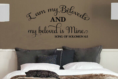 Song Of Solomon 3 (Song of Solomon 6:3 Bible Verse Vinyl Wall Stickers Decals Scripture Quote)