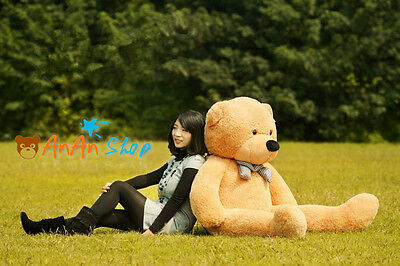 NEW GIANT 63 INCH BIG PLUSH LIGHT BROWN TEDDY BEAR HUGE SOFT TOY BIRTHDAY GIFT