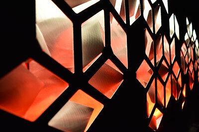Lighted Large Geometric Abstract Metal Wall Art LED Decor Painting - Brian Jones