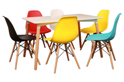 Zola Dinning 06 Chairs & Massa Table (Free Delivery)