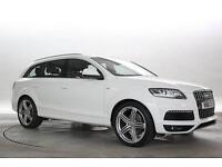 2011 (61 Reg) Audi Q7 3.0 TDi 245 Quattro S-Line White DIESEL AUTOMATIC