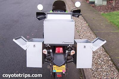 Motorcycle Aluminum Pannier, 47 liters, Hinged Lid; BMW GS, KLR, Tiger, Tenere for sale  Portland