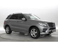 2014 (14 Reg) Mercedes ML350 3.0 CDi BlueTec AMG Sport Palladium Silver DIESEL A